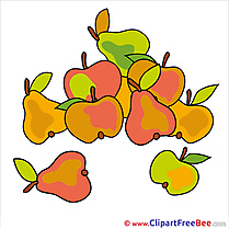 Apples Pears download Clipart Autumn Cliparts