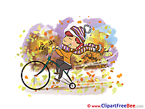 Bicycle Child Clip Art download Autumn