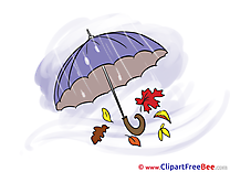 Rain Umbrella Autumn download Illustration