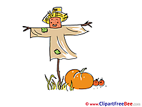 Scarecrow Clipart Autumn free Images