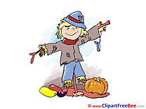 Scarecrow Pumping printable Illustrations Autumn