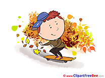 Skate Boy Pics Autumn free Cliparts