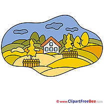 Village Clip Art download Autumn