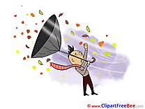 Wind Umbrella Autumn Illustrations for free