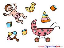 Kindergarten printable Illustrations Baby