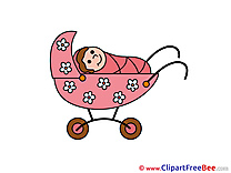 Stroller free Illustration Baby