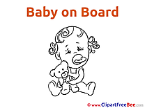 Teddy Bear Pics Baby Illustration