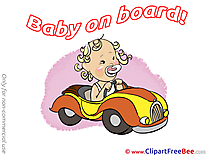 Autocar Pics Baby on board free Image
