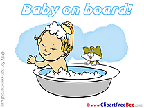Bath Clipart Baby on board Illustrations