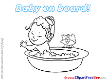 Bath printable Baby on board Images