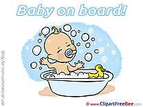 Bathing free Illustration Baby on board