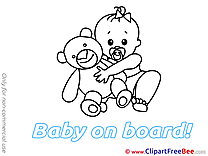 Bear Pics Baby on board Illustration