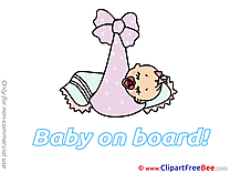 Bed sleeping Baby on board Illustrations for free