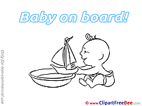 Boat free Cliparts Baby on board