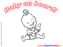 Bottle of Milk Baby on board download Illustration