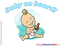 Bottle of Milk Pics Baby on board free Cliparts