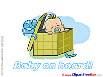 Box Baby on board Clip Art for free