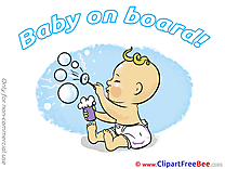 Bubbles Baby on board Illustrations for free
