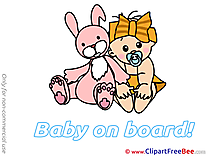 Bunny Baby on board download Illustration
