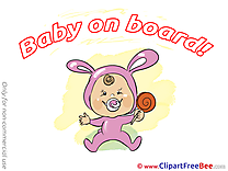 Candy Baby on board Clip Art for free