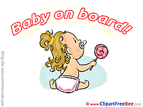 Candy Baby on board Illustrations for free