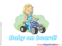 Car download Baby on board Illustrations