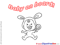 Coloring Candy download Clipart Baby on board Cliparts