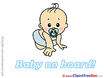 Crouch free Illustration Baby on board
