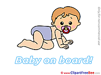 Crouching Baby on board free Images download