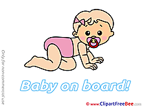 Crouching download Baby on board Illustrations
