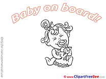 Doll Clipart Baby on board Illustrations