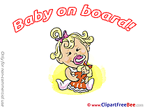 Doll free Cliparts Baby on board