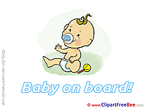 Dummy Clipart Baby on board free Images