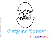 Egg printable Baby on board Images