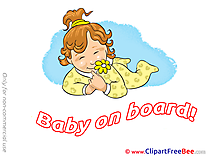 Flower Baby on board download Illustration