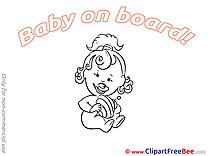 Free Whirligig Cliparts Baby on board