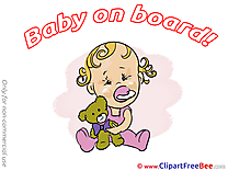 Girl Teddy Bear Clip Art download Baby on board