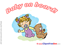 Girl Teddy Bear download Baby on board Illustrations