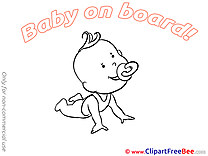 Happy Pics Baby on board Illustration