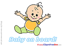 Happy printable Illustrations Baby on board