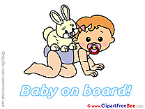Hare on Back Cliparts Baby on board for free