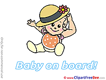 Hat Baby on board download Illustration
