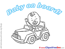 Little Car Pics Baby on board free Cliparts