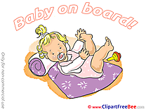 Little Girl Pics Baby on board free Cliparts