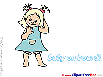 Little Girl Pics Baby on board Illustration