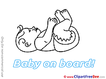 Lying Pics Baby on board free Image