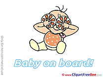 Oranges Baby on board download Illustration
