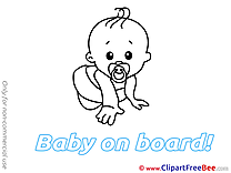Pacifier Clip Art download Baby on board
