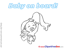 Pics Towel Baby on board free Cliparts