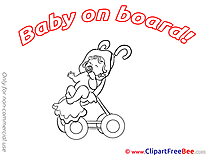 Pram Baby on board free Images download